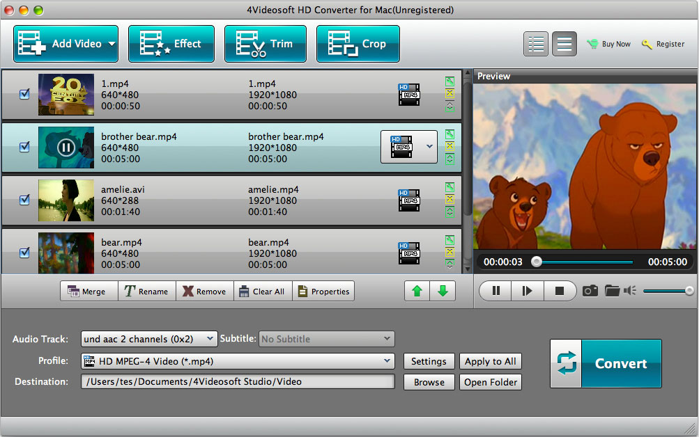 HD Converter for Mac screenshot