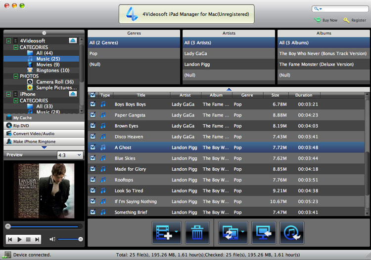 iPad Manager for Mac screenshot
