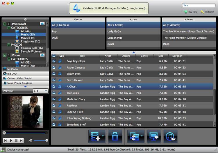 iPod Manager for Mac screenshot