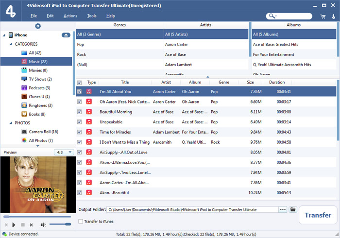 iPod to Computer Transfer Ultimate screenshot