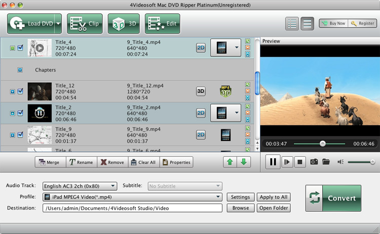 Mac DVD Ripper Platinum screenshot