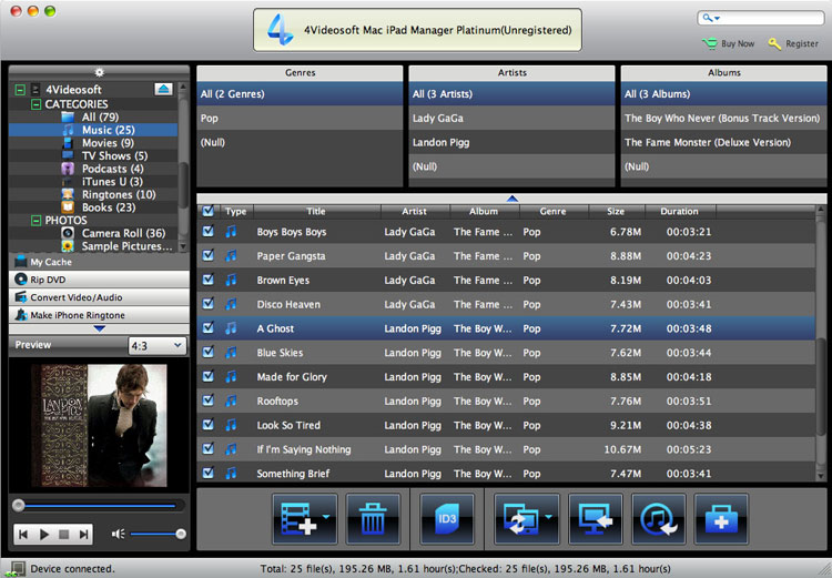 Mac iPad Manager Platinum screenshot