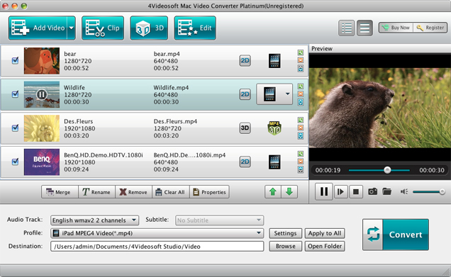 Mac Video Converter Platinum screenshot