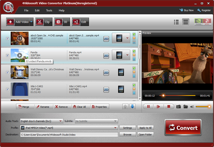 Video Converter Platinum screenshot